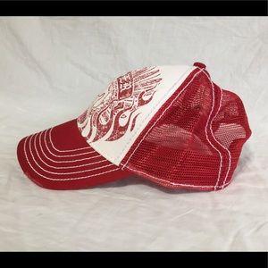 Fender Guitars Red White Mesh Back Trucker Hat
